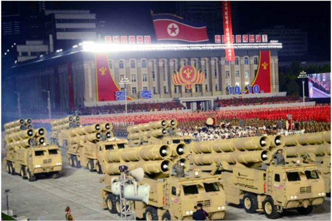 Ảnh:  Chiêm ngưỡng hàng loạt vũ khí hoành tráng trong lễ duyệt binh Triều Tiên