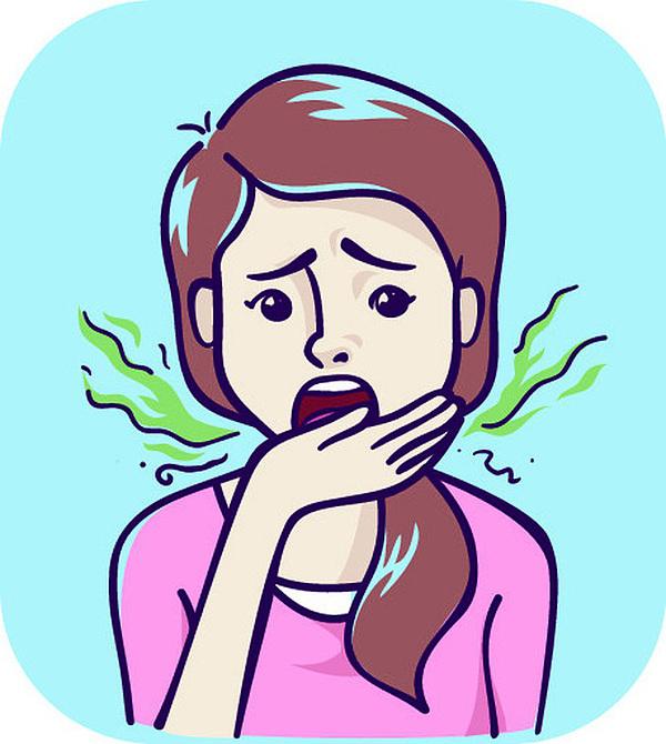 Hôi miệng là dấu hiệu hệ tiêu hóa gặp vấn đề.