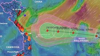 Áp thấp nhiệt đới thành bão và hướng vào miền Trung