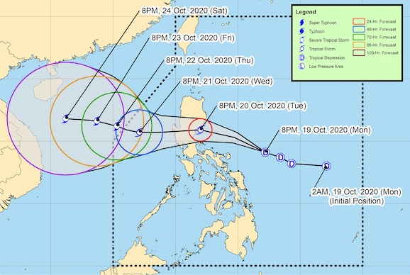 Bão Saudel mạnh lên, tiến vào Philippines