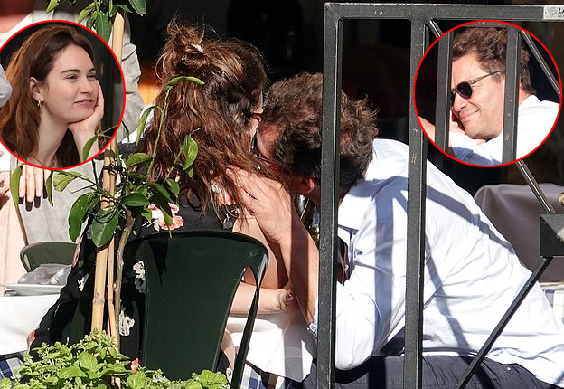 Lily James và Dominic West hẹn hò ở Rome ngày 11/10.