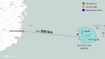 Cứu 3 người trong vụ 26 ngư dân mất tích trên biển