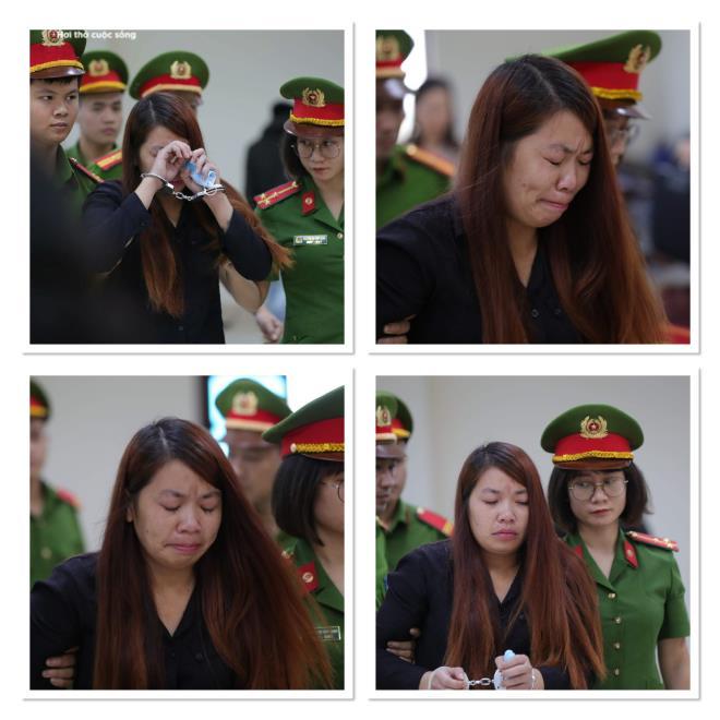 Bị tuyên án 5 năm tù, 'mẹ mìn' bắt cóc bé trai 2 tuổi ở Bắc Ninh khóc nức nở - 2