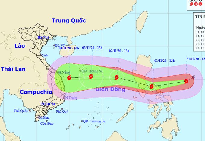 Yêu cầu các tỉnh theo dõi chặt bão Goni