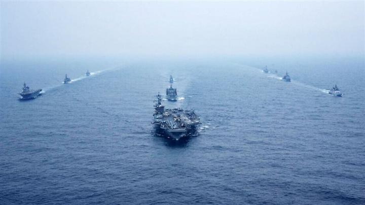 Nhóm QUAD tập trận rầm rộ ở Ấn Độ Dương