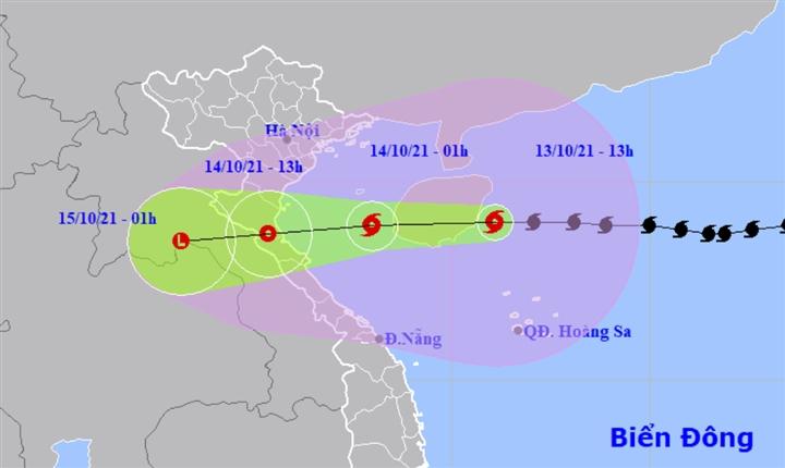 Bão số 8 giật cấp 14, cách Hà Tĩnh 540km