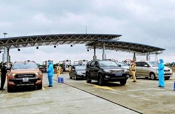 Hà Nội tạm bỏ chốt kiểm soát trên cao tốc Hà Nội - Hải Phòng