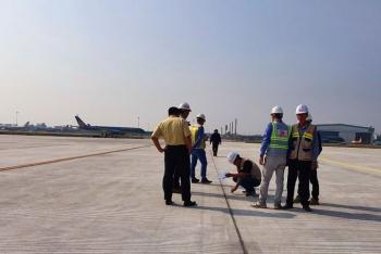Một đường lăn sân bay Nội Bài đã sửa xong, khai thác từ sáng nay