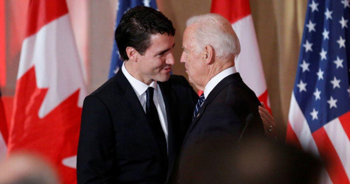 Ông Justin Trudeau (trái) và ông Joe Biden. Ảnh: Reuters.