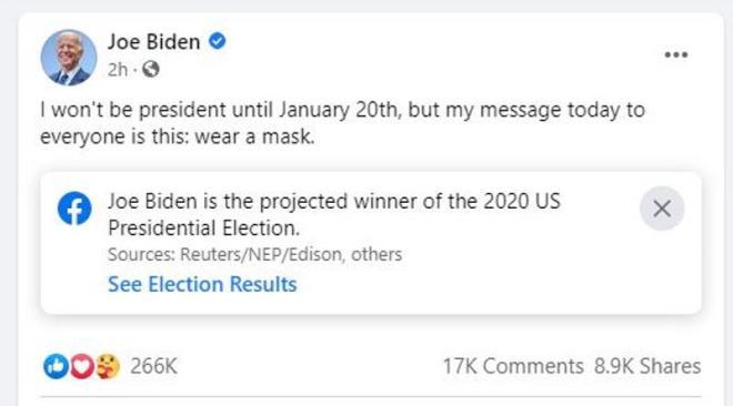 Joe Biden: 'Tôi không phải là Tổng thống cho đến 20/1' - 1