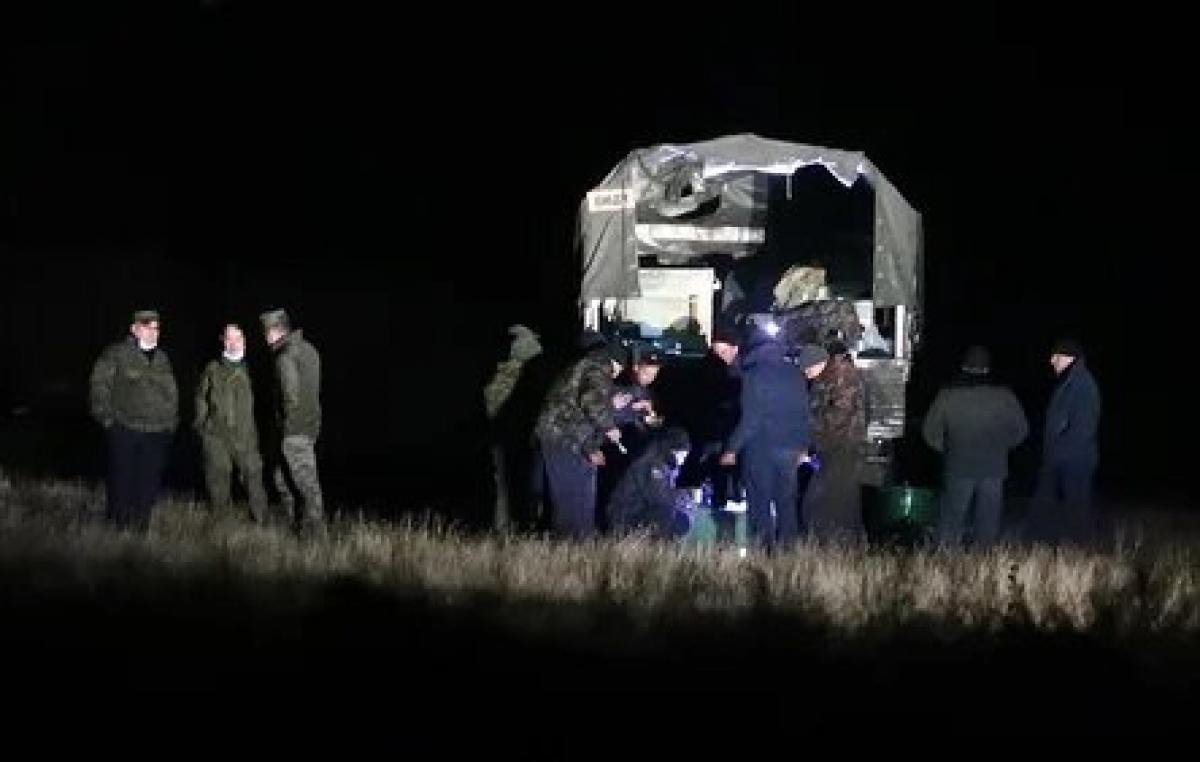 Nơi rơi máy bay Mi-24 của Nga. Nguồn: Tass