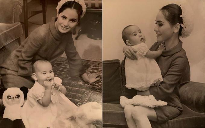 Cựu đệ nhất phu nhân Indonesia chụp ảnh cùng con gái Kartika khi bà 27 tuổi. Ảnh: Instagram.