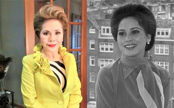 Bà Dewi thời còn là đệ nhất phu nhân Indonesia (phải) và hiện tại (trái). Ảnh: Instagram.