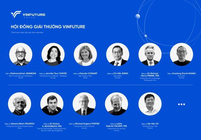 Hội đồng Giải thưởng toàn cầu VinFuture giá trị lớn nhất thế giới gồm những ai?