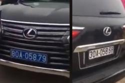 Xe Lexus đầu đeo biển xanh 80A, đuôi biển trắng đi chùa Tam Chúc