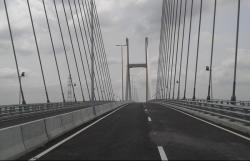 Ngắm cầu Cao Lãnh bắc qua sông Tiền trước ngày thông xe