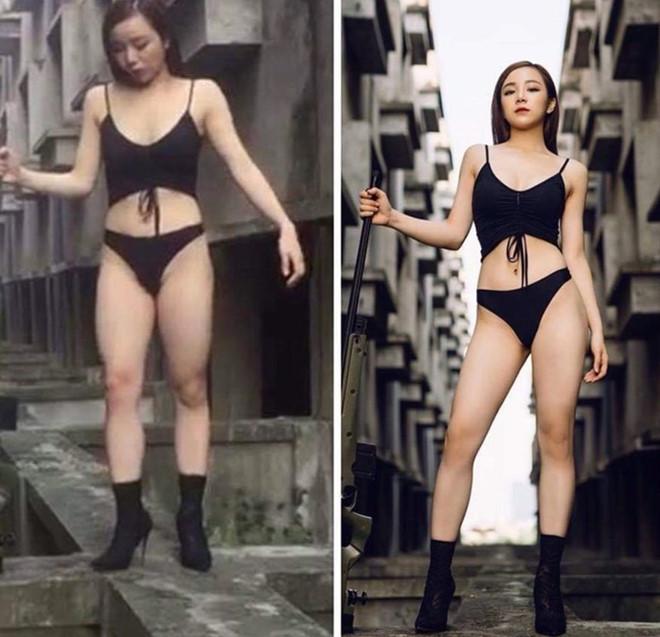 nhan sac thuc cua hot girl tuong tren mang va ngoai doi la 2 nguoi khac nhau