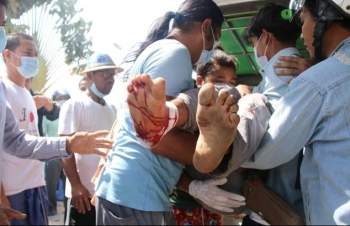 Mỹ, EU lên án cảnh sát Myanmar bắn chết 18 người biểu tình