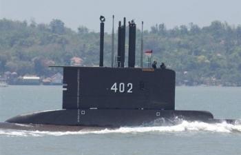 Đã tìm thấy mảnh vỡ tàu ngầm Indonesia mất tích
