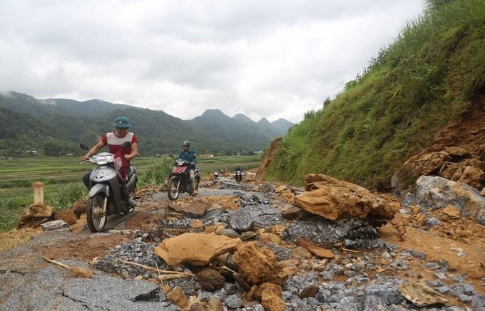 Khung cảnh tan hoang ở vùng rốn lũ Hà Giang