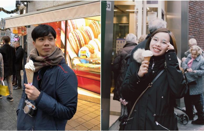cong phuong lam le an hoi voi ban gai cung tuoi