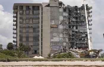 Sập chung cư 12 tầng ở Mỹ: Số người chết tăng lên 9, hơn 150 người mất tích