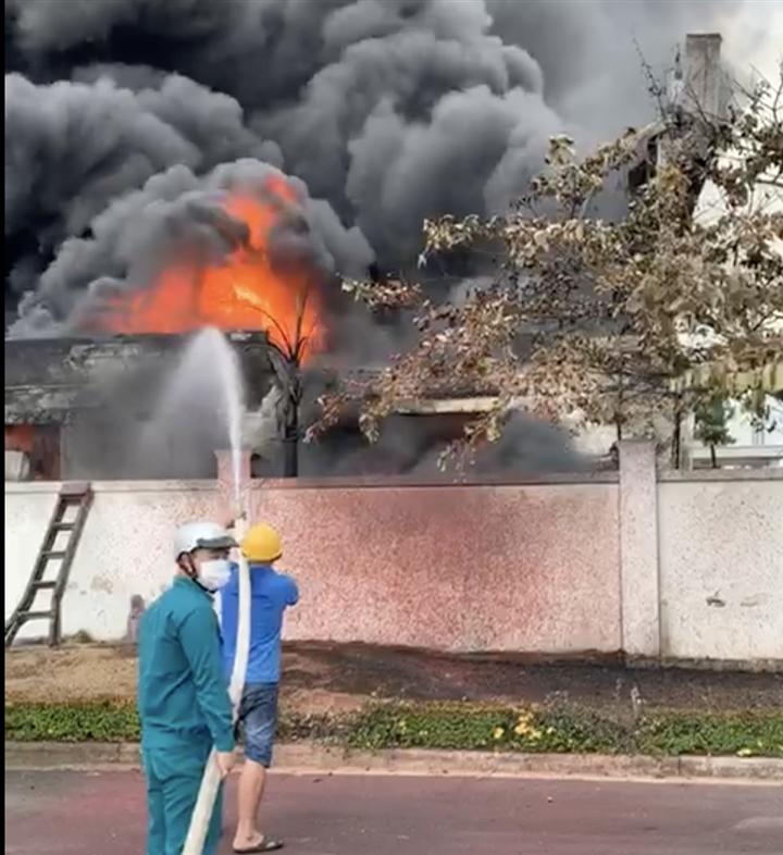 Cháy lớn tại khu công nghiệp Long Bình, Đồng Nai - 2