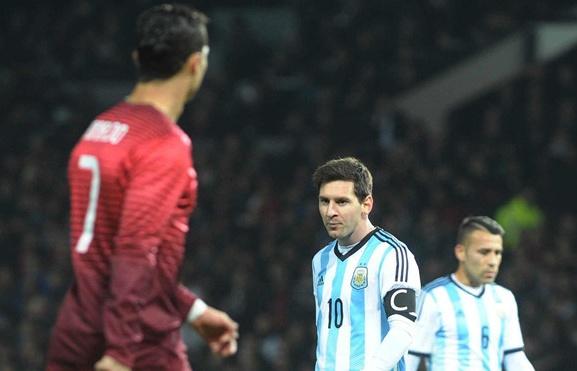 argentina len ke hoach de messi so tai voi ronaldo