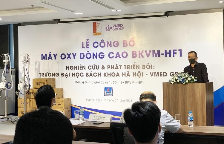 PETROSETCO tài trợ dự án sản xuất máy oxy dòng cao HFNC