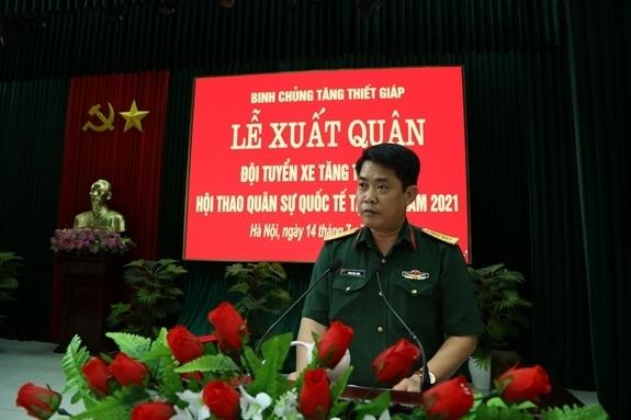 Đại tá Phan Hải Long, Phó Tham mưu trưởng Binh chủng, Đội trưởng Đội tuyển xe tăng hứa sẽ cố gắng hết mình để đạt thứ hạng cao tại Army Games 2021.