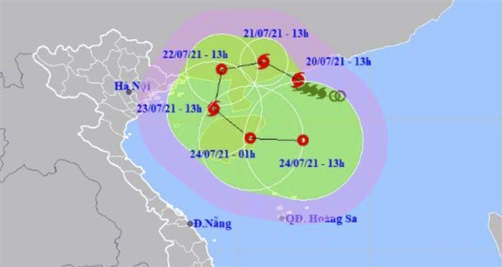 Bão số 3 liên tục đổi hướng, suy yếu rồi mạnh lại thành bão - 1
