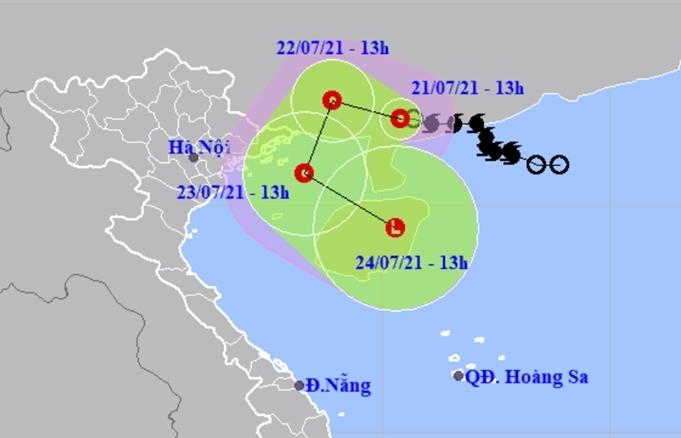 Bão số 3 suy yếu thành áp thấp nhiệt đới