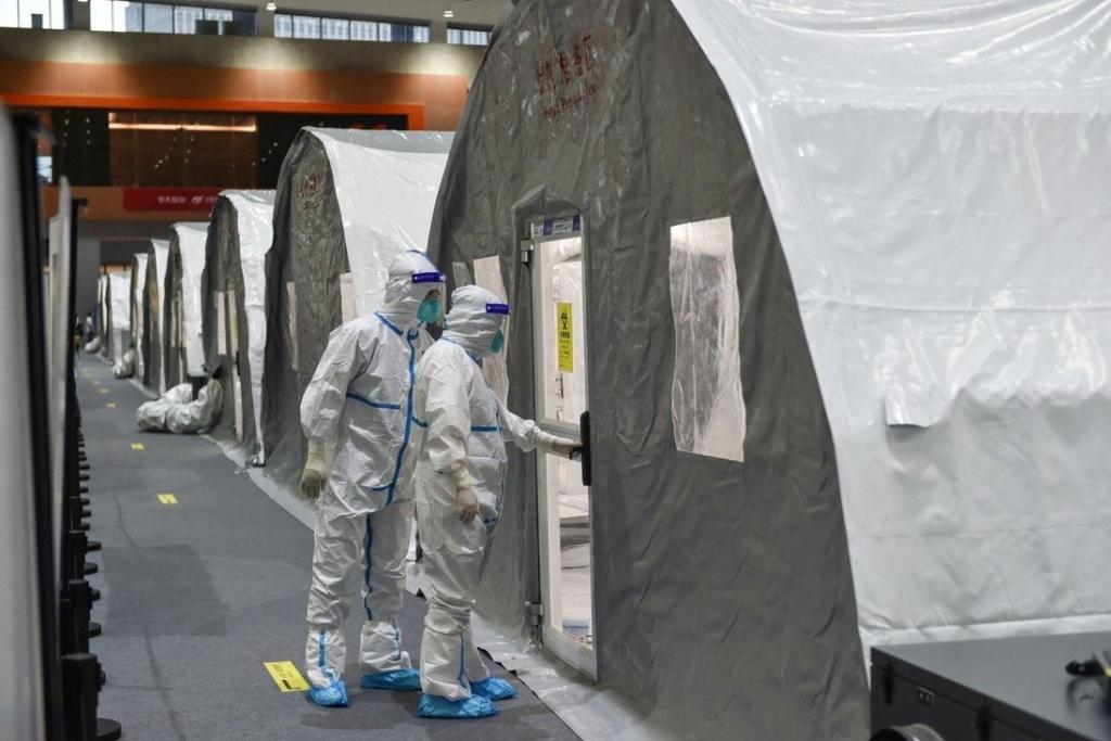 Phòng xét nghiệm Covid-19 dã chiến ở Nam Kinh