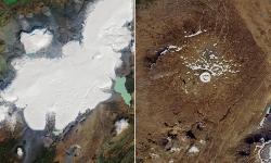 Sông băng ở Iceland biến mất