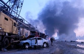 """Nhân chứng vụ nổ kinh hoàng ở Beirut: """"Chúng tôi không còn lại gì"""""""