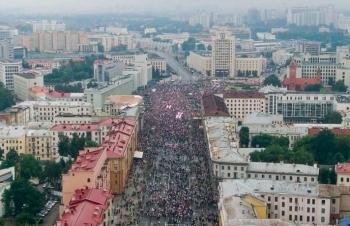 Biểu tình lớn ở thủ đô Minsk của Belarus phản đối Tổng thống Alexander Lukashenko