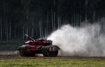 Nga lập kỷ lục nội dung thi Tank Biathlon ngày đầu tiên tại Army Games 2020