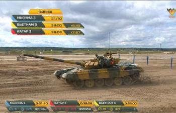 Đội tuyển xe tăng Việt Nam về nhì trong trận thi đấu thứ 3 tại Army Games