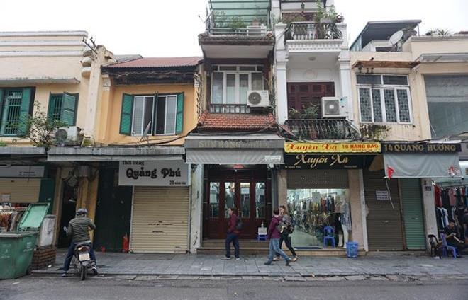 Giá thuê mặt bằng phố cổ Hà Nội giảm 30 - 40%
