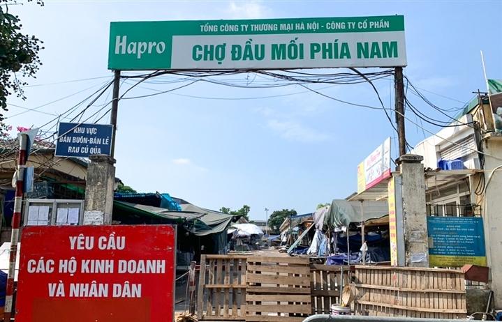 Đầu tuần tới, Hà Nội dự kiến mở cửa trở lại chợ đầu mối phía Nam