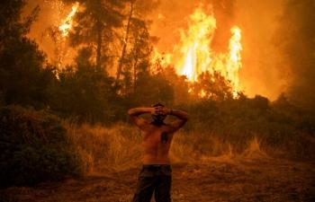 Thảm họa cháy rừng ở Hy Lạp là