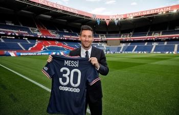 Hình ảnh đầu tiên Messi khoác áo PSG