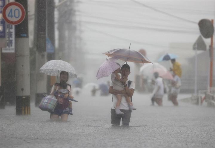Mưa lớn khủng khiếp, Nhật Bản kêu gọi 1,5 triệu dân sơ tán khẩn  - 1