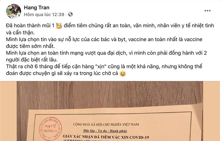 Người dân TP.HCM 'khoe' tiêm vaccine Vero Cell trên mạng xã hội