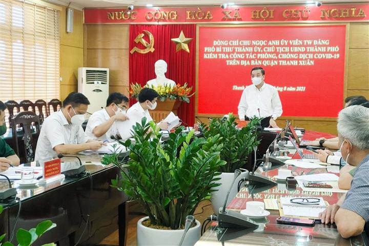 Chủ tịch Hà Nội: Quận Thanh Xuân lấy mẫu chưa trúng 'vùng đỏ' nên bùng dịch - 1