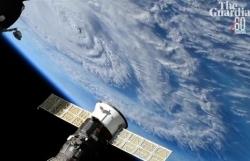 Bão Florence đổ bộ vào Mỹ nhìn từ không gian