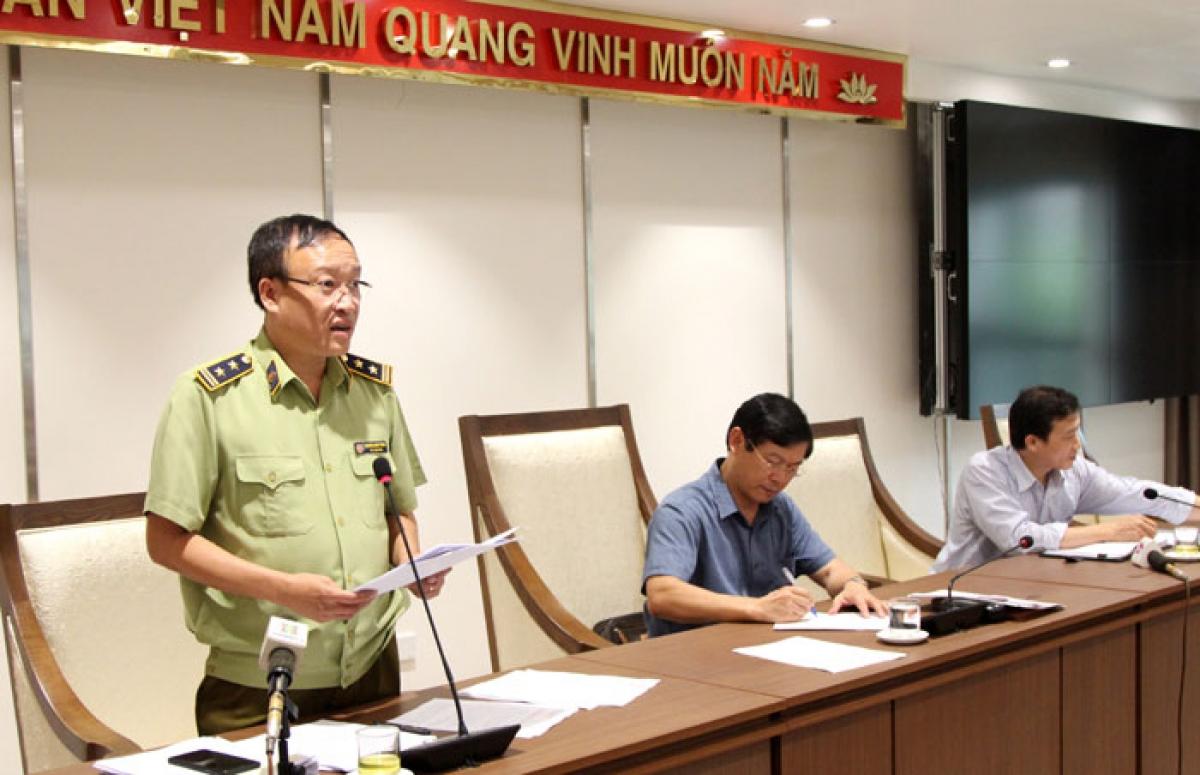 Phó Cục trưởng Cục Quản lý thị trường Hà Nội Nguyễn Minh Hùng thông tin.