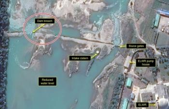 Vỡ đập gần nhà máy hạt nhân Triều Tiên