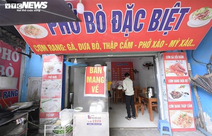 """Hà Nội cho phép dịch vụ ăn, uống được bán mang về tại một số địa bàn """"vùng xanh"""""""