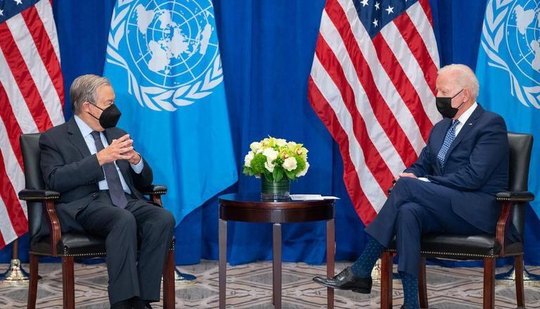 Tổng thư ký LHQ Antonio Guterres và Tổng thống Mỹ Joe Biden trong cuộc gặp mới nhất